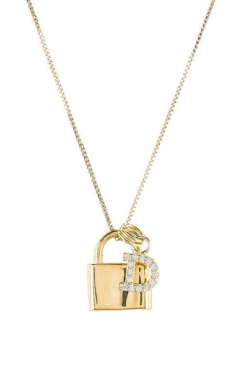 The M Jewelers NY The Lock D Initial Necklace