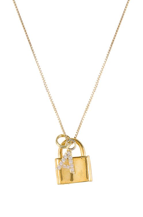 The M Jewelers NY The Lock A Initial Necklace