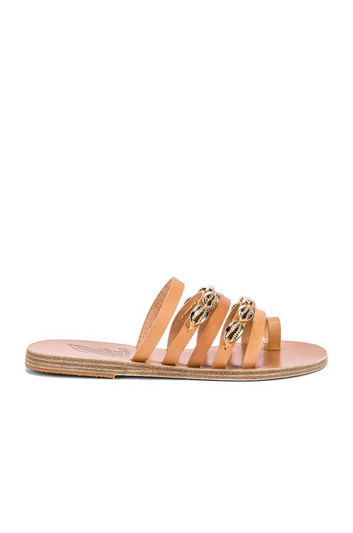 Ancient Greek Sandals Niki Gold Shells Sandal