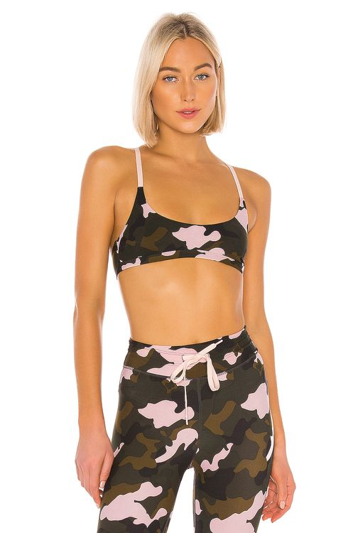 The Upside Forest Camo Zoe Bra