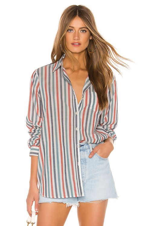 Birds Of Paradise by Trovata Grace Classic Button Down