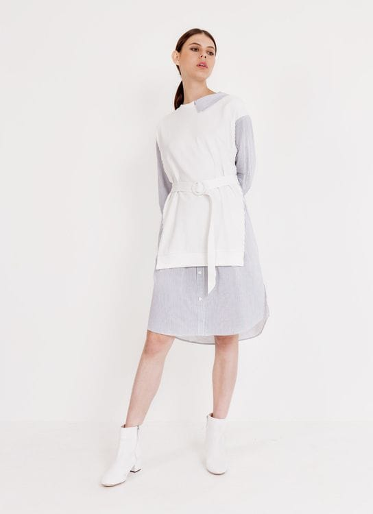 BOWN Shay Dress - White