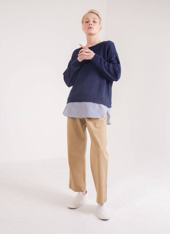 Earth, Music & Ecology Carla Sweater - Navy