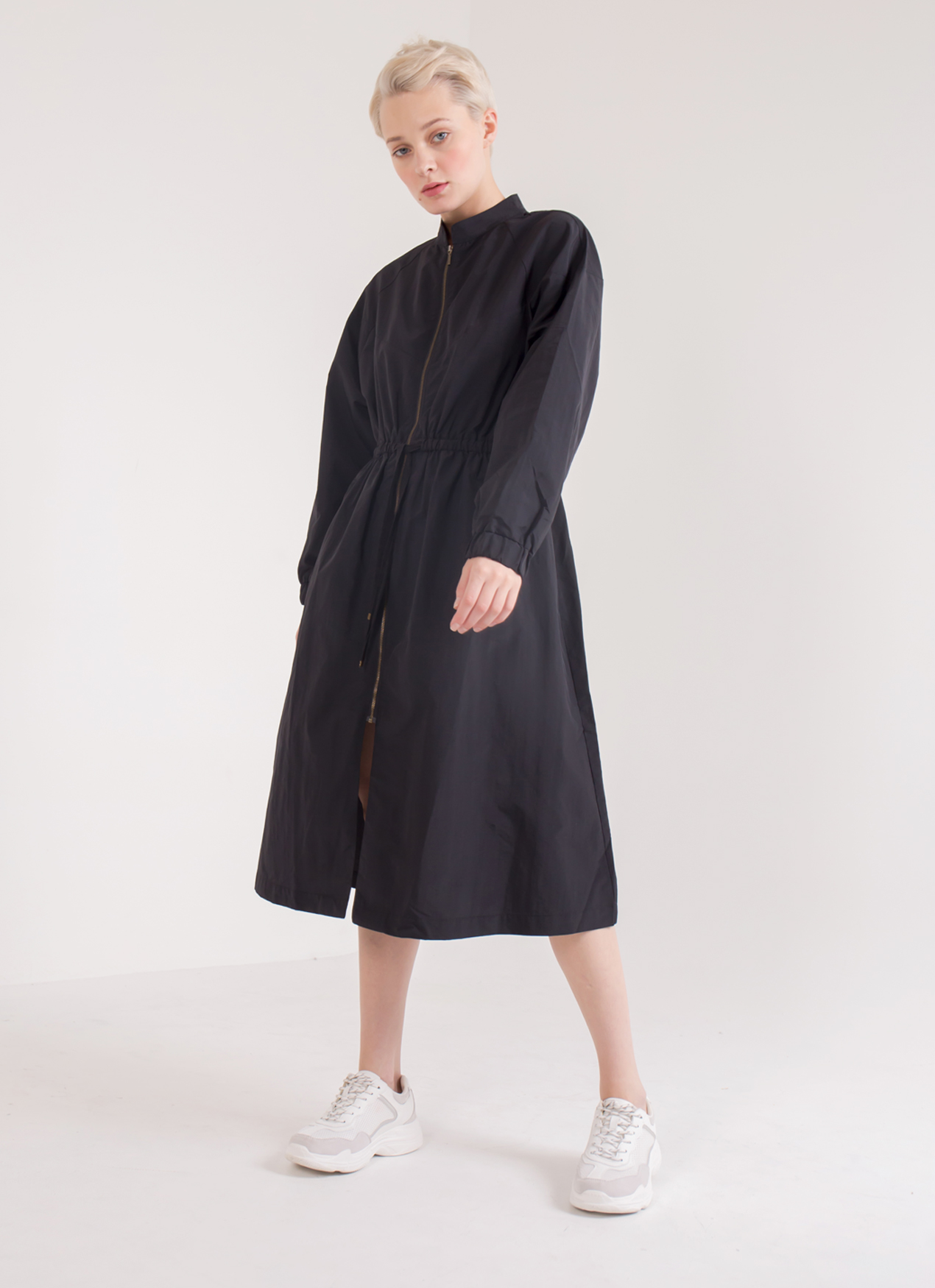 Earth, Music & Ecology Fina Long Jacket - Black