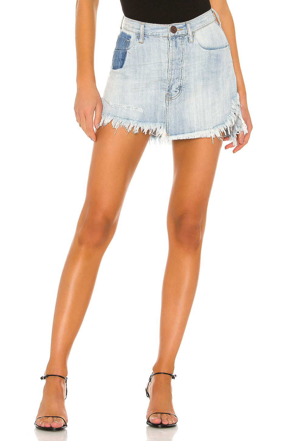 0d651689c788 Buy Original One Teaspoon Vanguard Mid Rise Relaxed Denim Mini Skirt ...