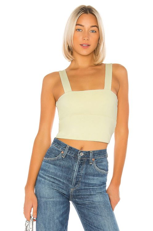 David Lerner Wide Band Crop Top