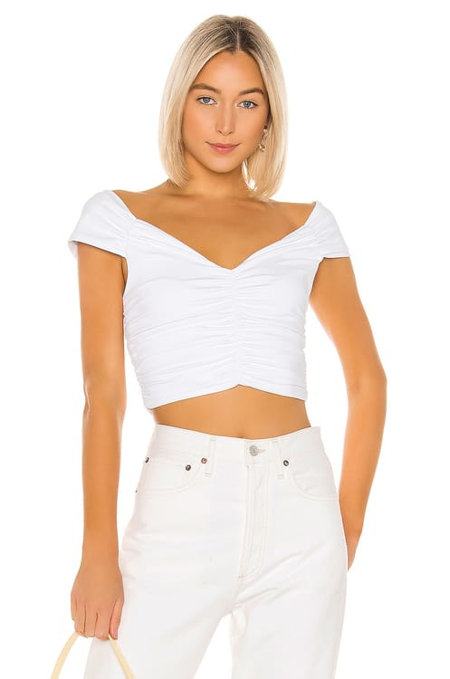 David Lerner Ruched Crop Top