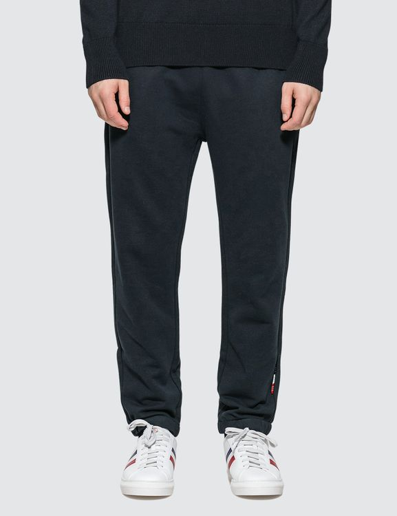 Moncler Jersey Jogger Pants With Tab Details