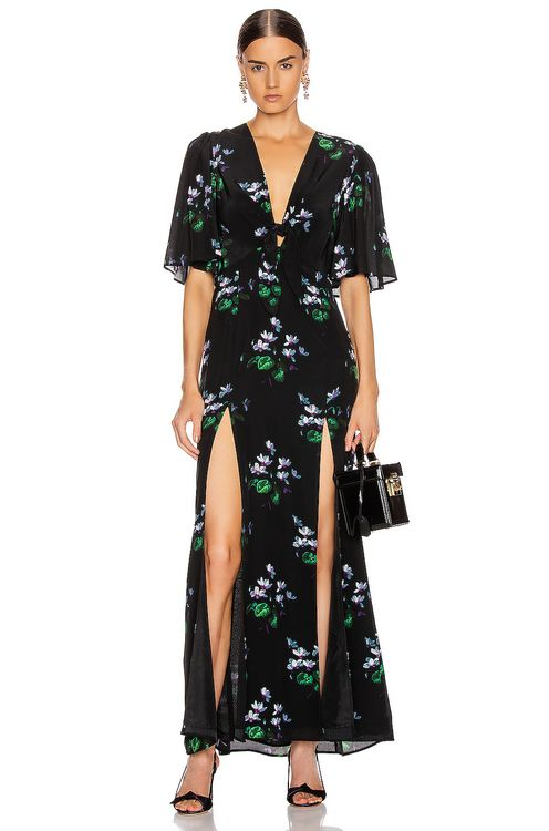 Les Reveries for FWRD The Front Flutter Sleeve Dress with Slits