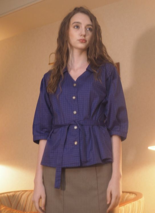 Starry Office Blouse - Blue