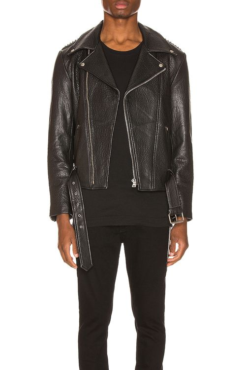 Keiser Clark Pebbled Leather Biker Jacket