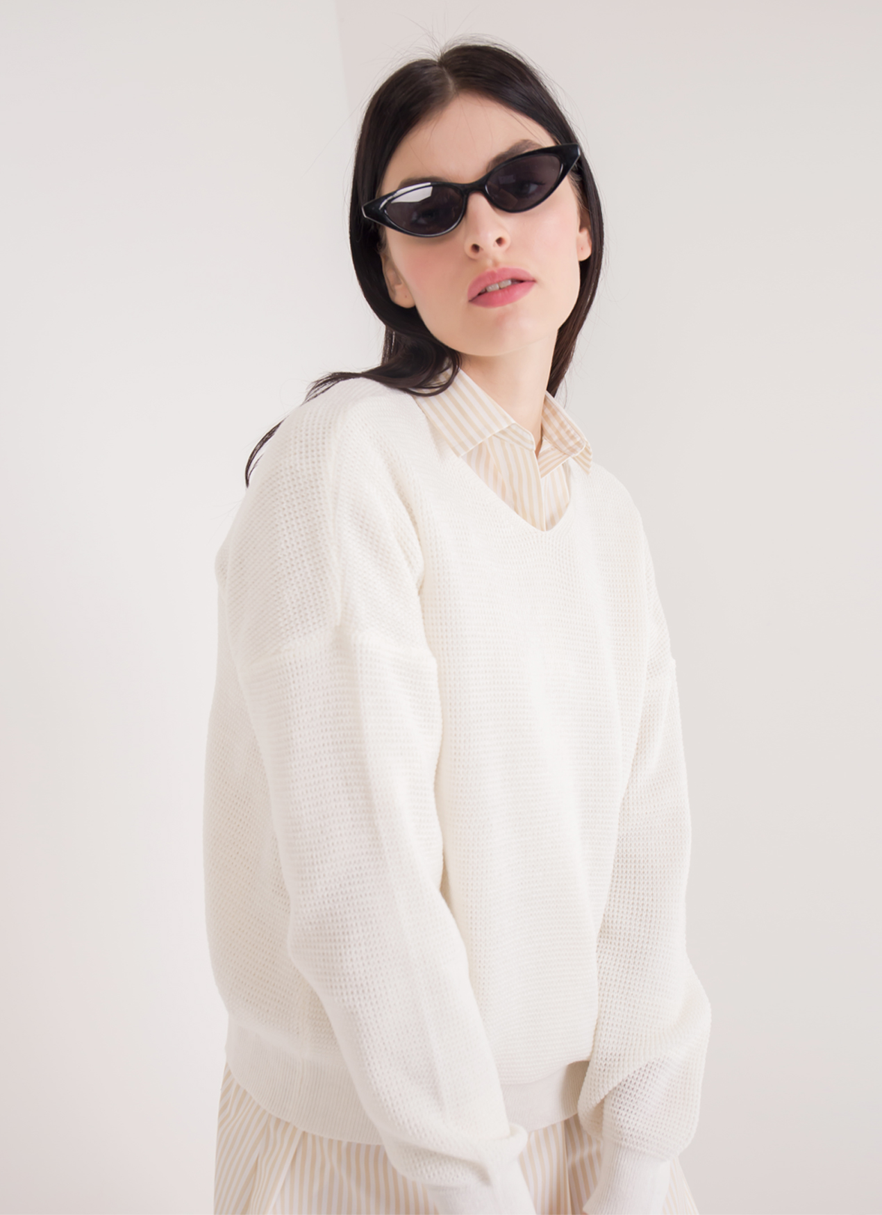 Green Parks Beatrice Sweater - Off White