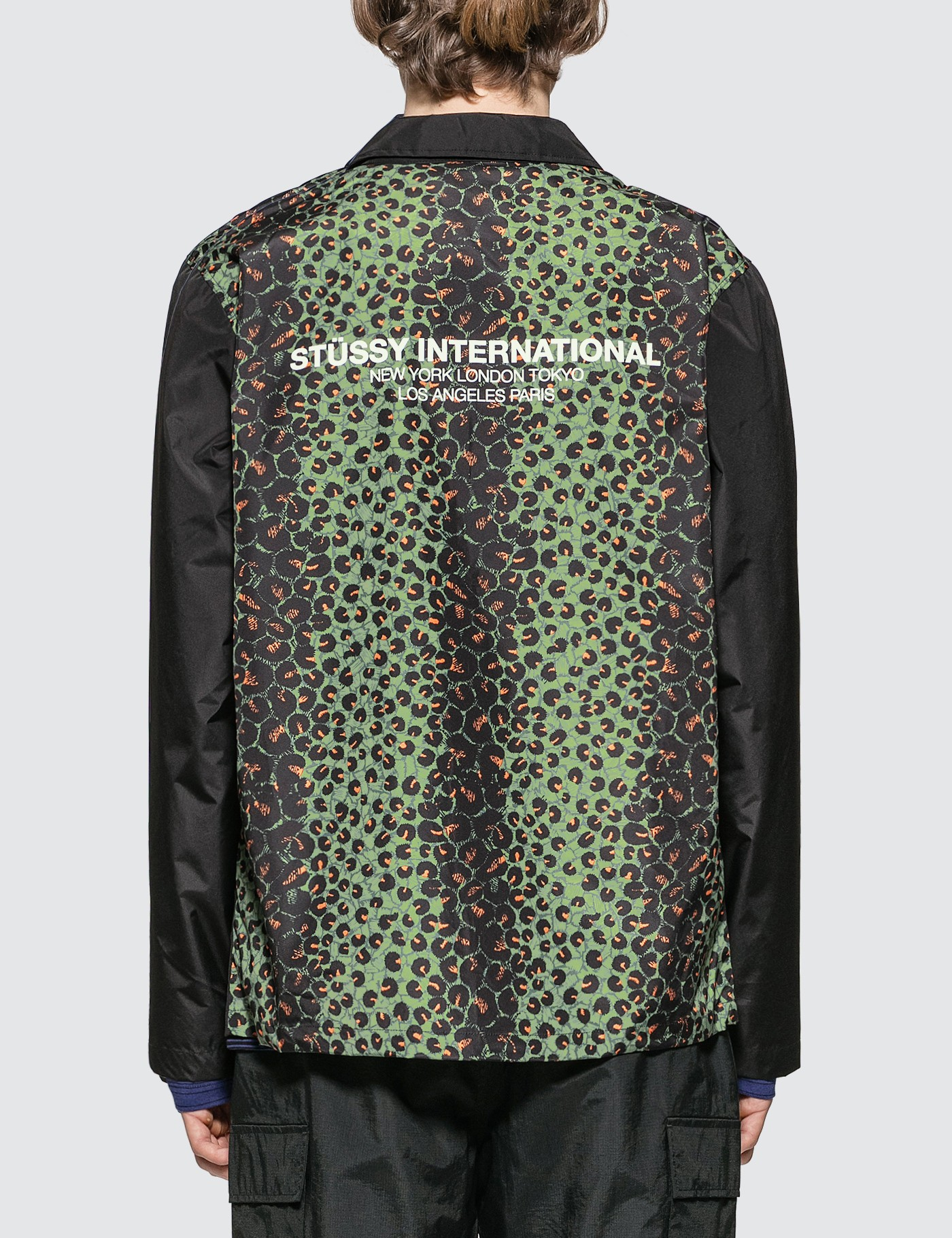 Stussy Leopard Panel Jacket