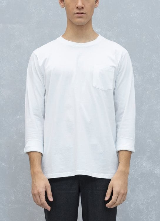 Fabian Nasution Long sleeve pocket tee - White