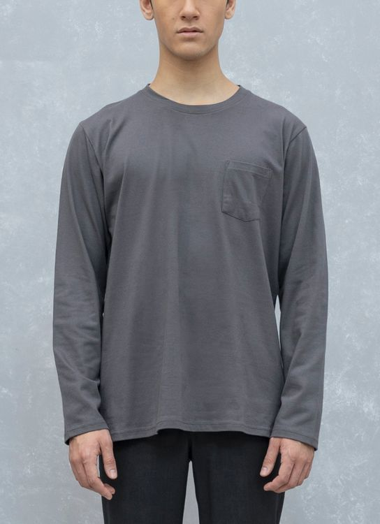 Fabian Nasution Long sleeve pocket tee - Gray