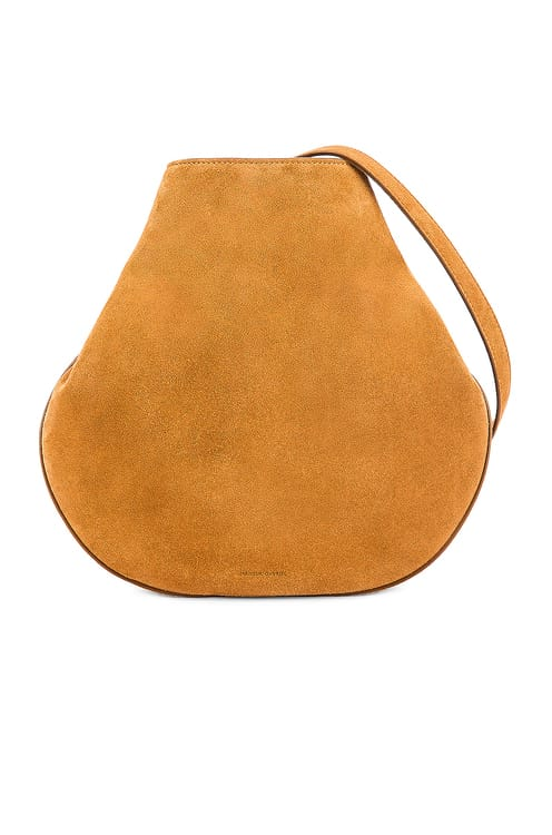 Mansur Gavriel Suede Folded Hobo Bag