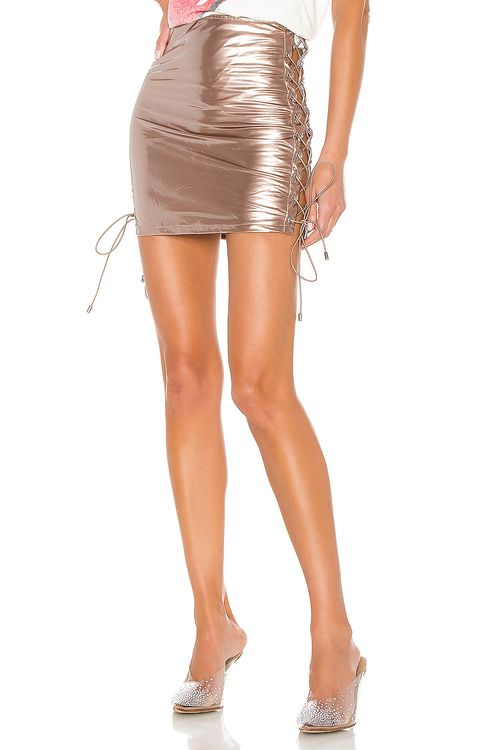 super down Arabella Lace Up Skirt