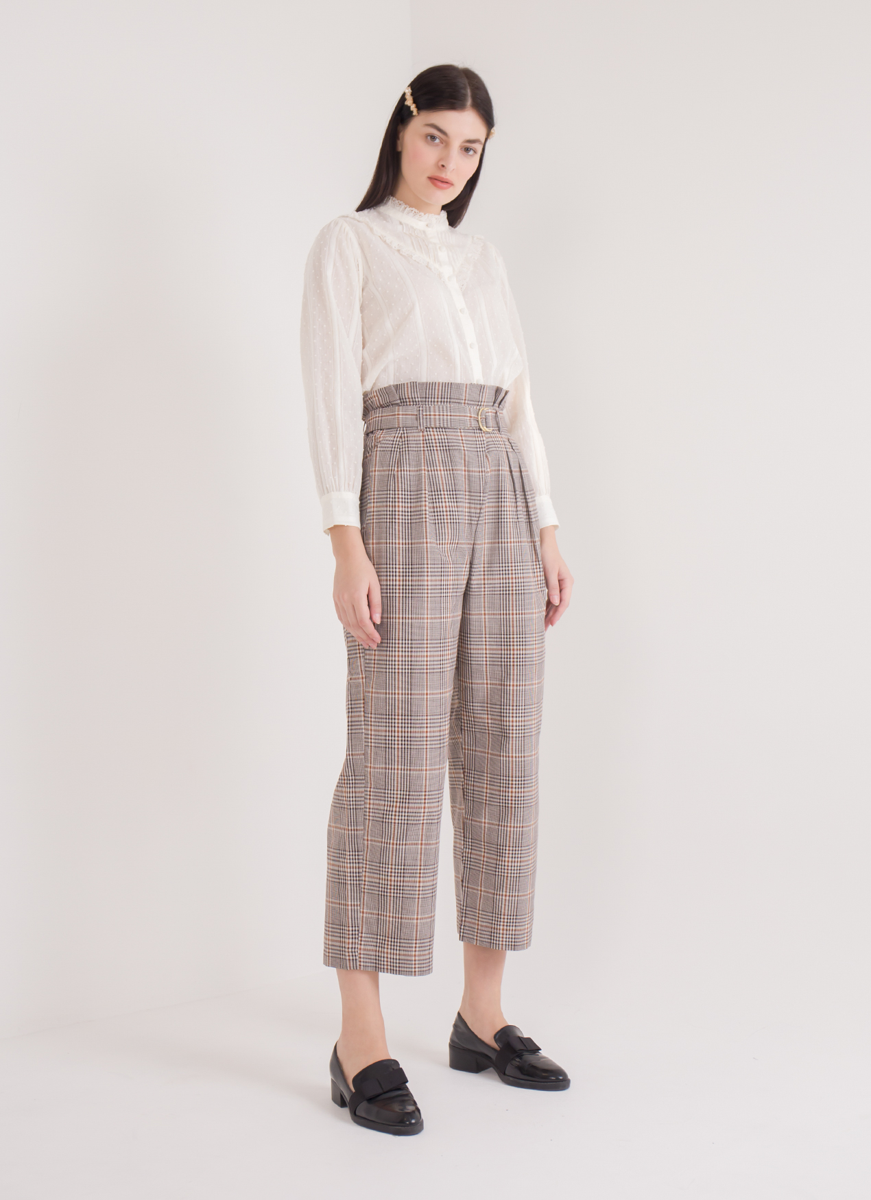 American Holic Regina Pants - Check Brown