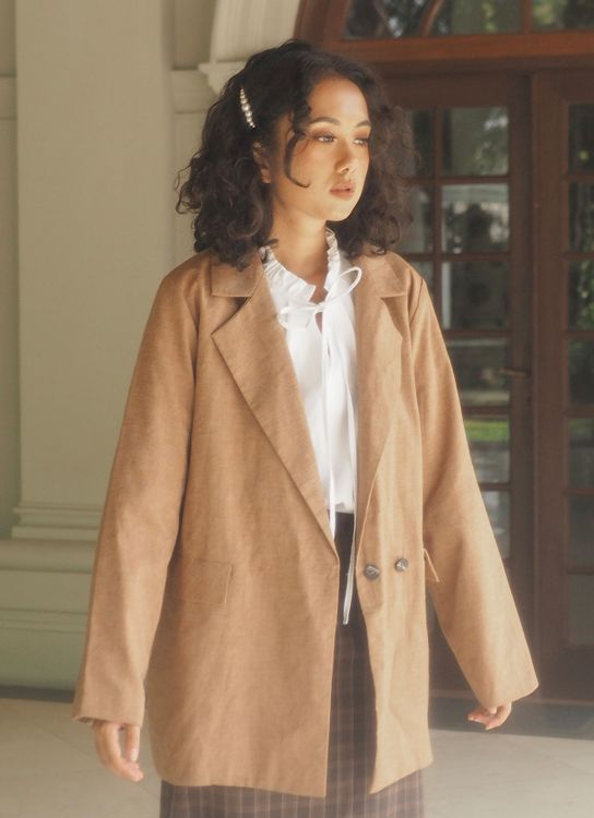 Starry Office Jacket - Brown