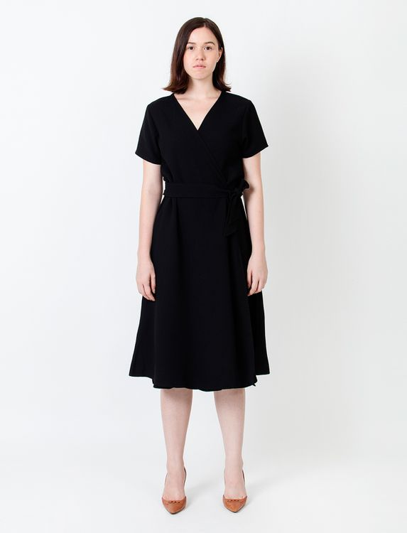 Wastu Tie Wrap Dress - Black