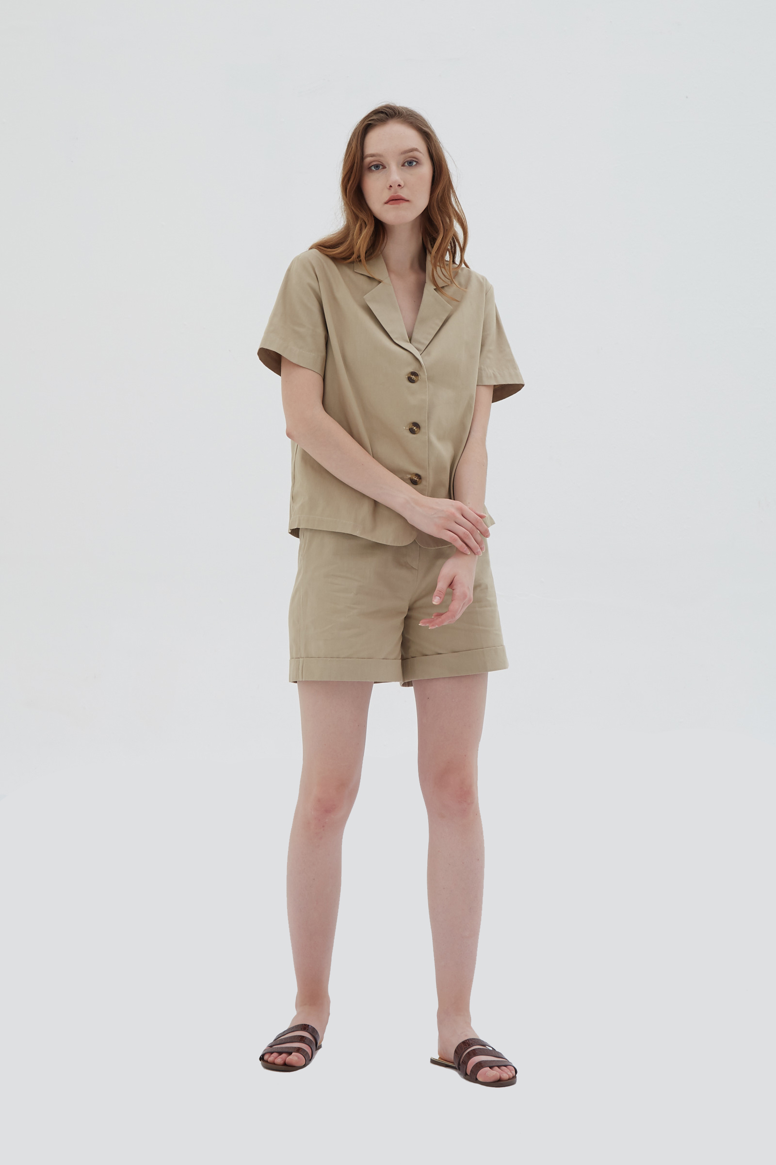Shopatvelvet Union Shirt Beige