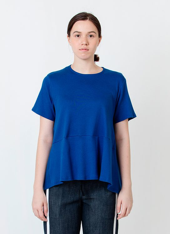 Wastu Trapeze Jersey Top - Blue