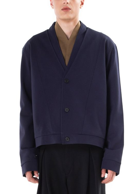 jan sober Layered Jacket - Navy