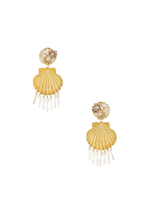 Mercedes Salazar Small Shell Pearl Earrings