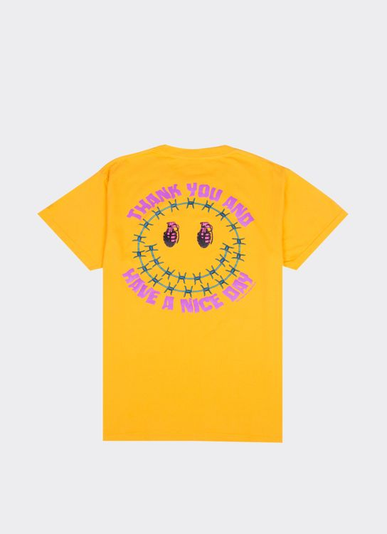 Public Culture Have A Nice Day Tee - Yellow