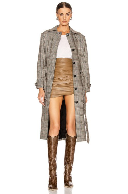 Frame Patch Pocket Trench Coat