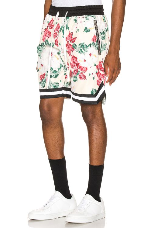 Crysp Denim Floral Jordan Ball Shorts