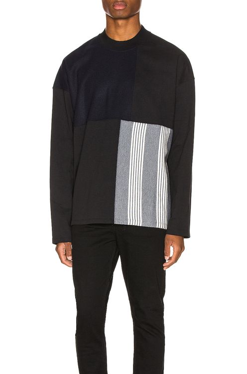 Jil Sander Long Sleeve Panels Tee