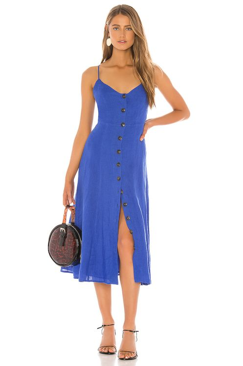 BCBGMAXAZRIA Button Down Midi Dress