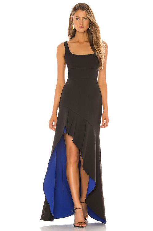 BCBGMAXAZRIA Colorblock Gown