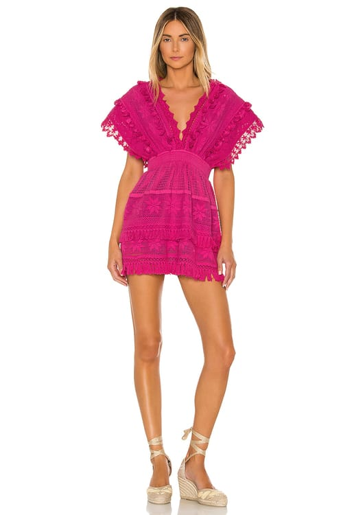 Place Nationale Le Rasis Backless Kaftan Mini Dress
