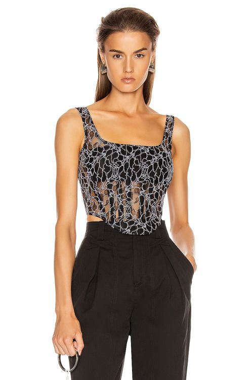 Dion Lee Vein Lace Corset Top