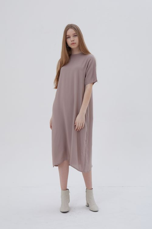 Shopatvelvet Routine Dress Taupe