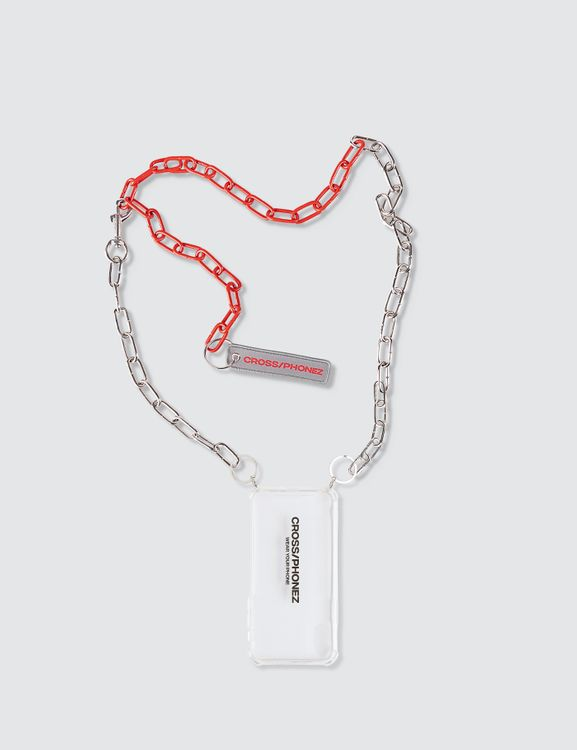 CROSS/PHONEZ Silver And Red Chain Iphone Case