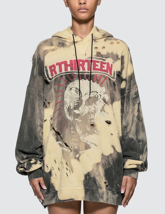 R13 Exploited Punk Oversized Hoodie