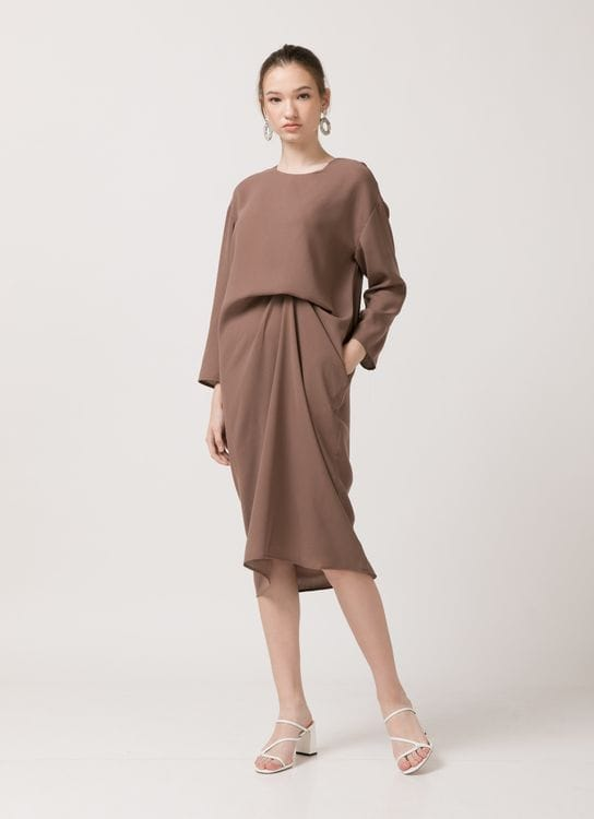 Callie Yuka Dress - Brown