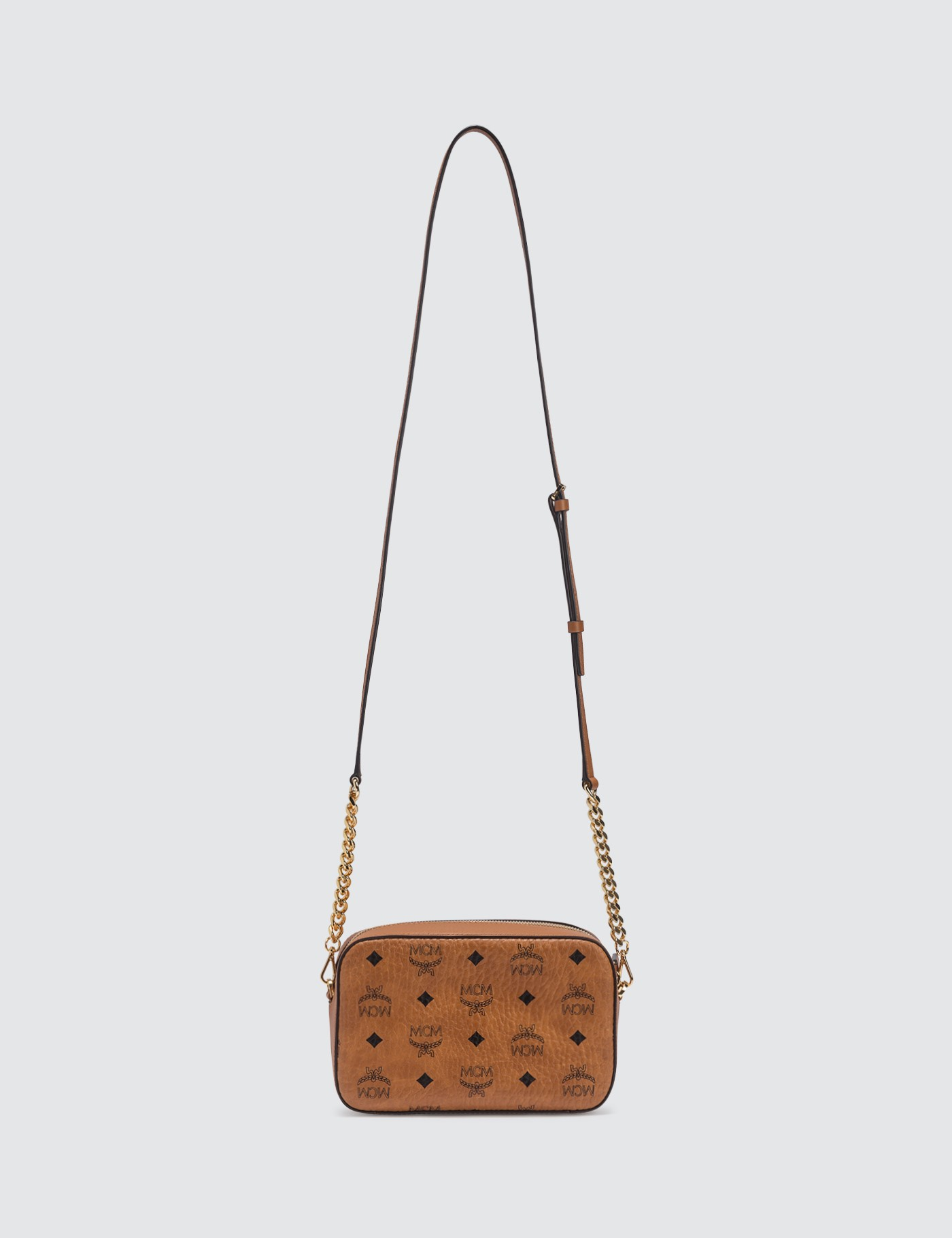 MCM Small Crossbody Bag in Visetos Original