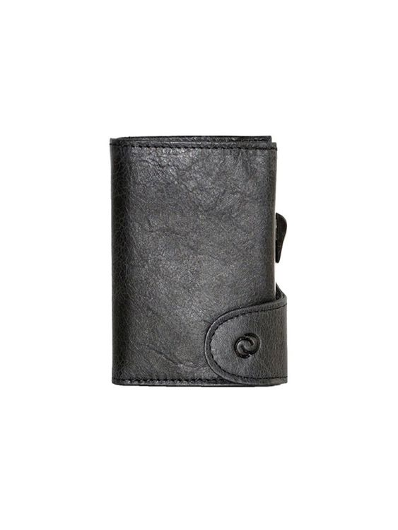 C-Secure C-Secure Italian Leather RFID Wallet With Coin Pouch Nero