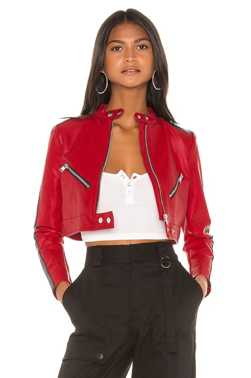 super down Thandi Cropped Racer Jacket