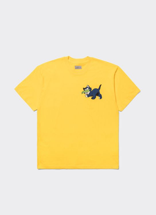 The Damn Blue Cat T-Shirt - Yellow
