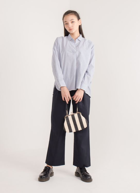 Earth, Music & Ecology Veronica Top - Stripe Navy