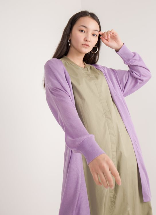 Earth, Music & Ecology Vina Cardigan - Lavender