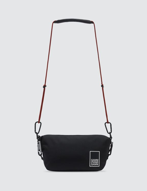 Ganni Tech Fabric Crossbody Bag