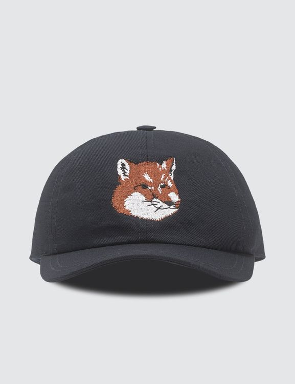 MAISON KITSUNE Large Fox Head Embroidery Cap