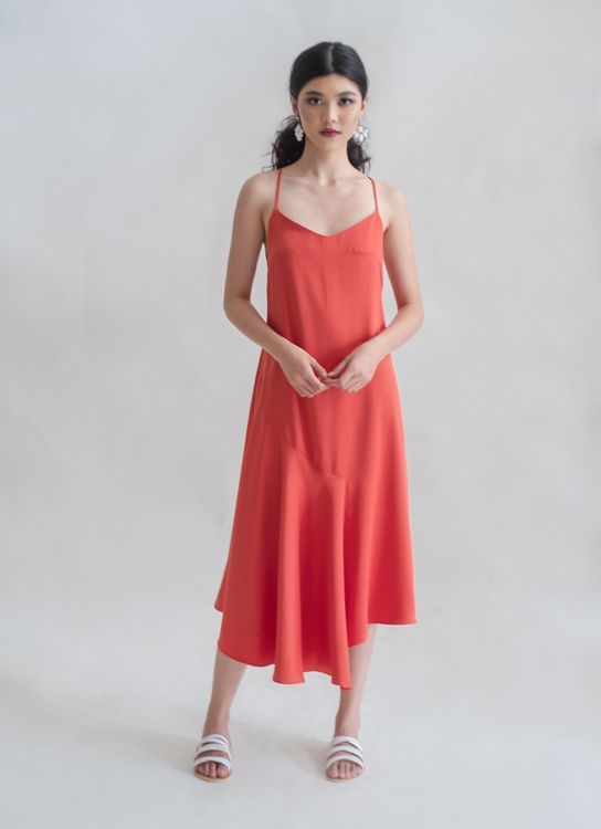 Novere Amira Dress - Tangerine