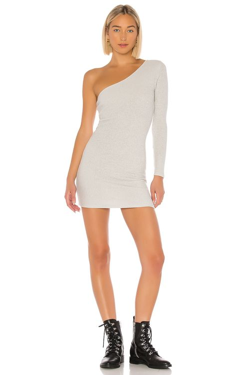 super down Mila One Shoulder Sweater Dress